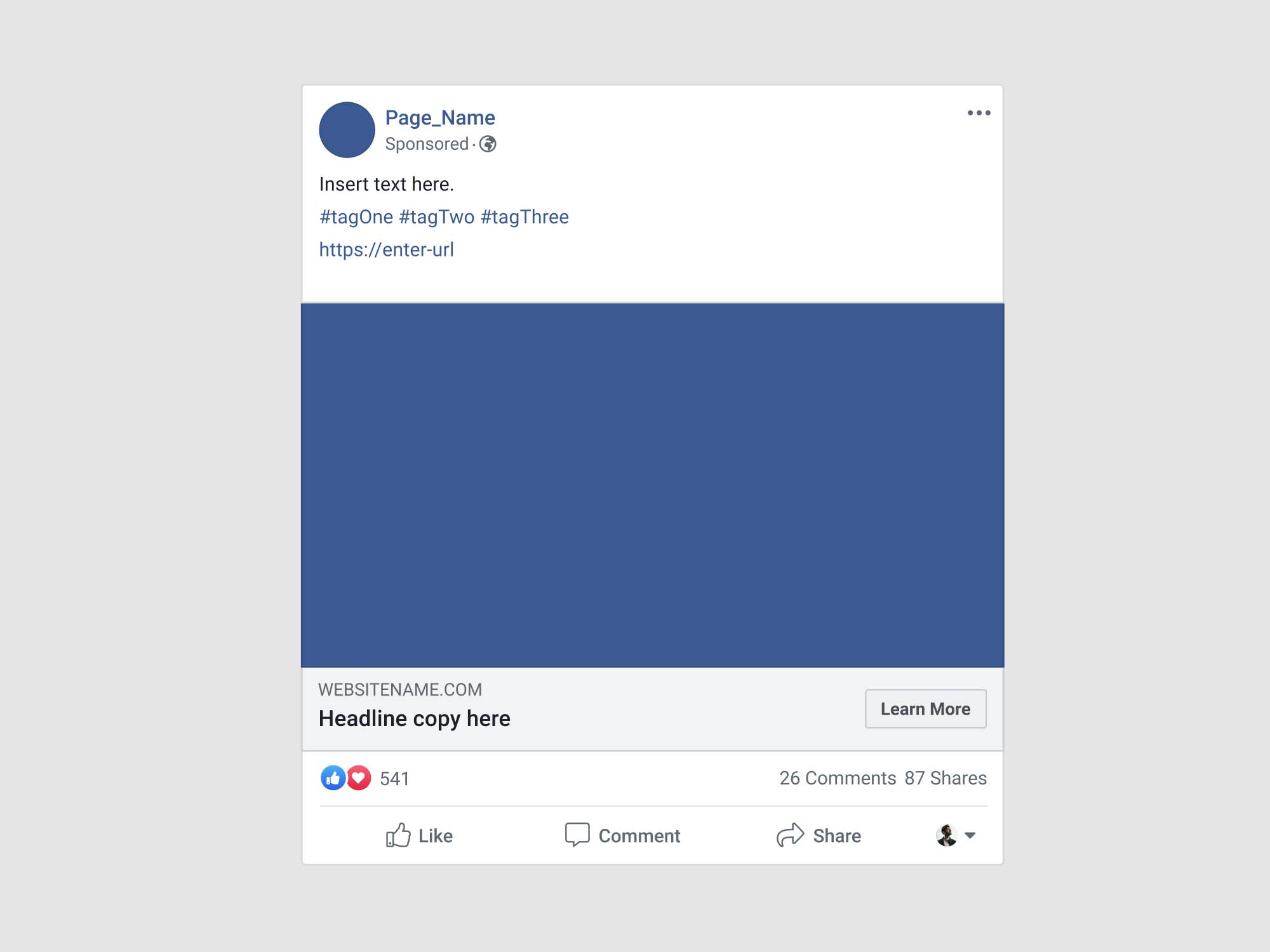 It's highly realistic and provides all the details included in a usual page for the site. Facebook Advertisement Post Mockup Psd