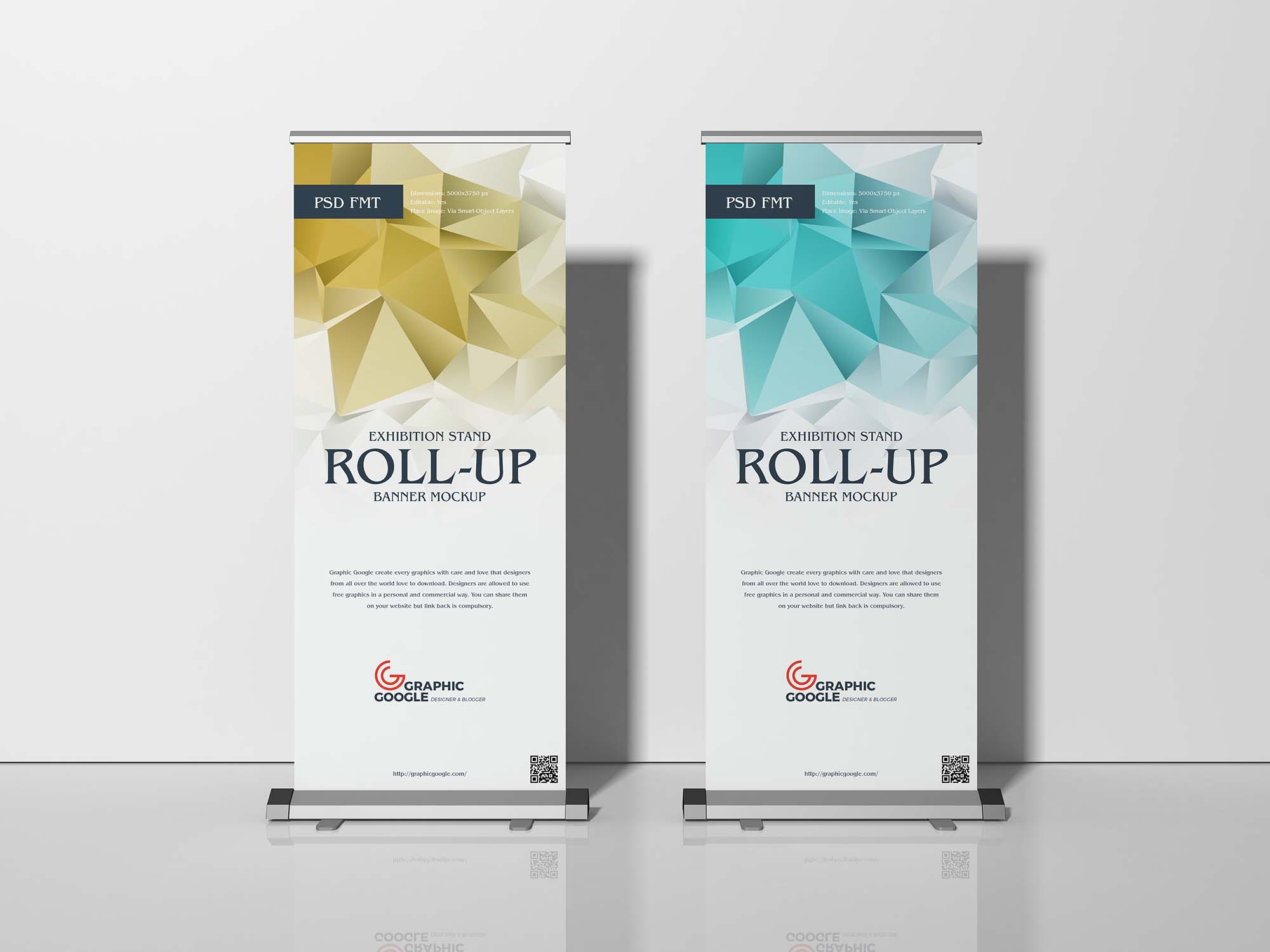 Roll x & desain paket edit banner corel cdr template up siap format. Free Exhibition Stand Roll Up Banner Mockup Psd