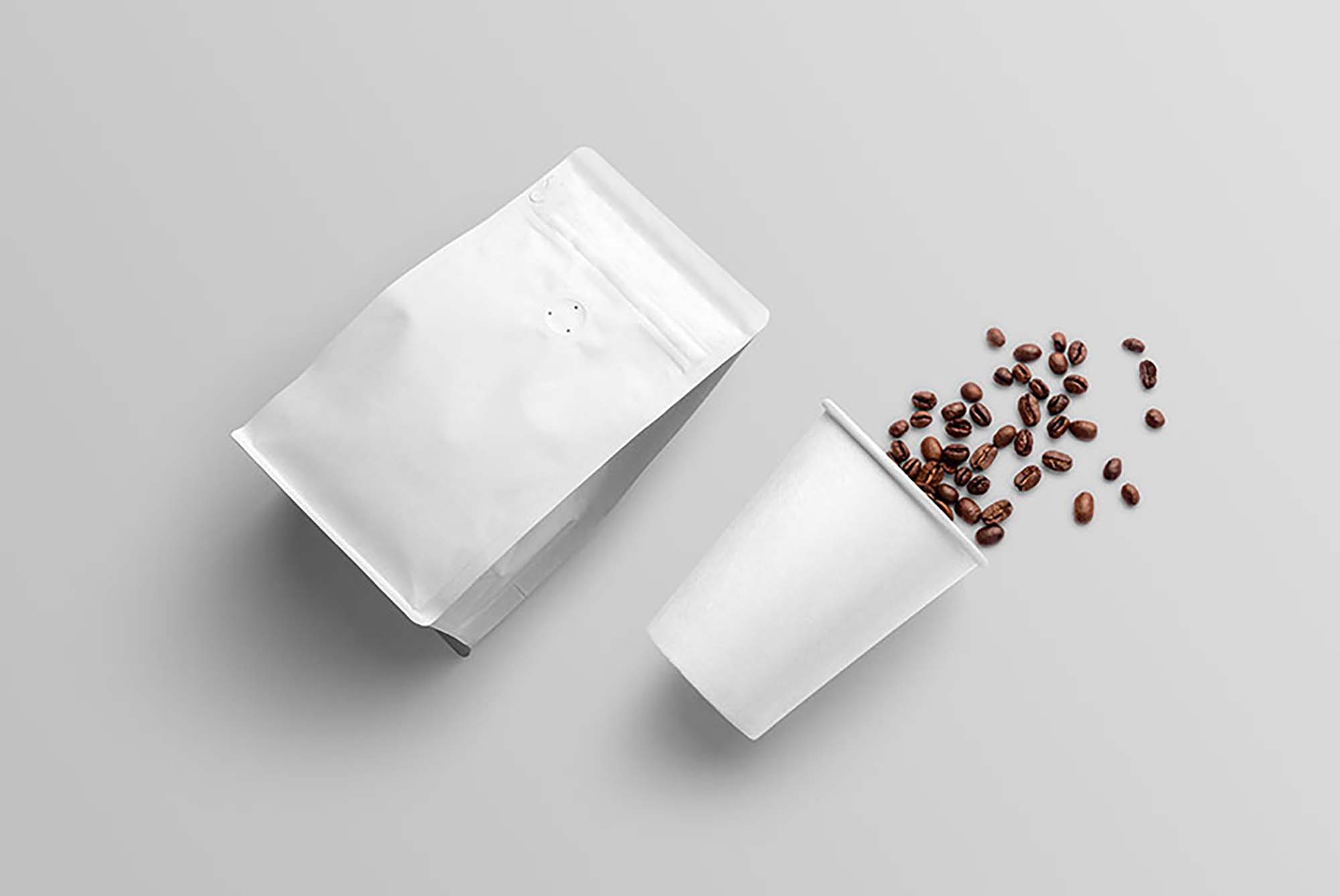 Free coffee pouch packaging bag mockup psd. Free Coffee Packaging Mockup Psd