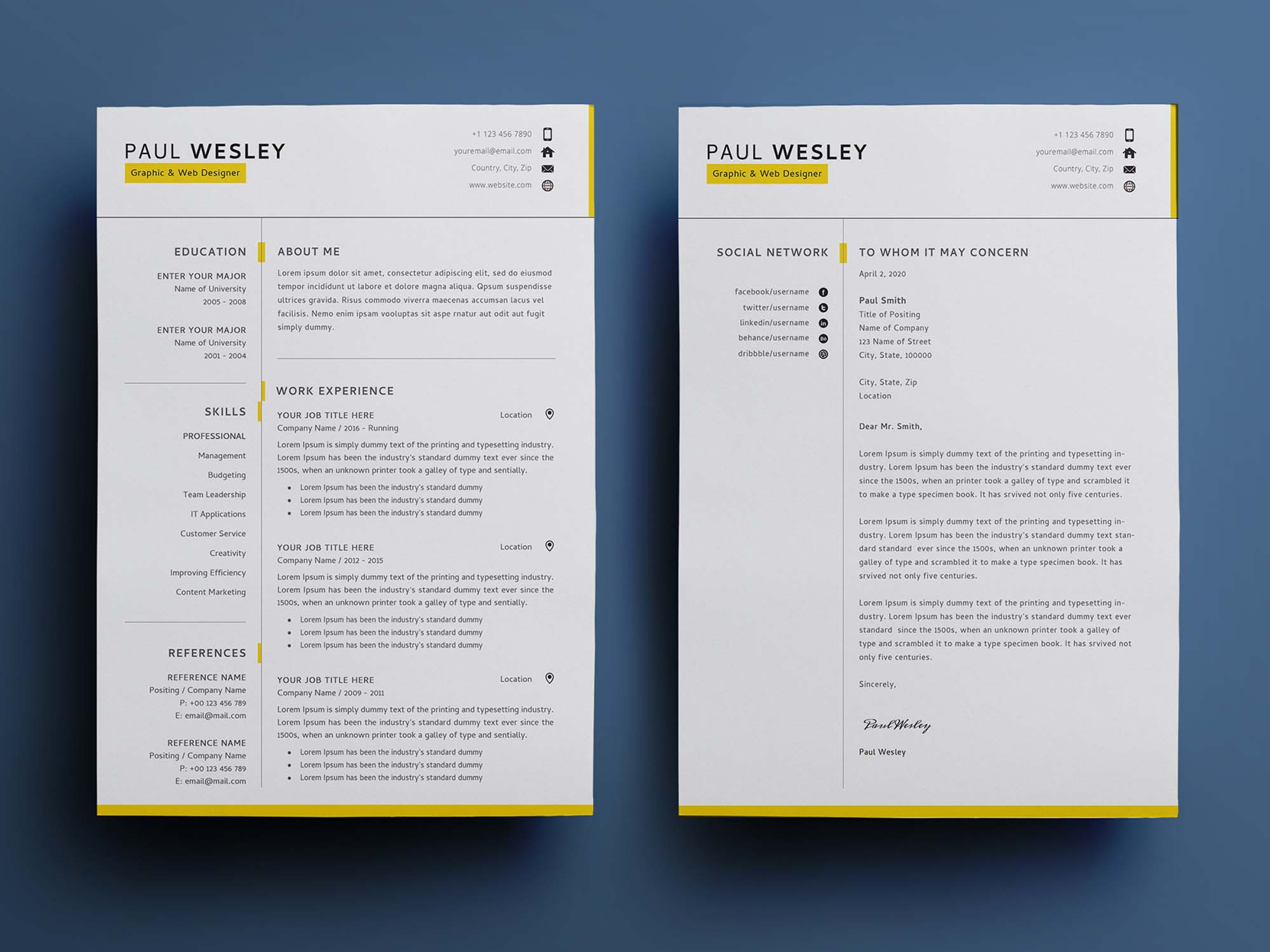 · curriculum vitae this pages resume template is. 2 Page Free Resume Template Psd