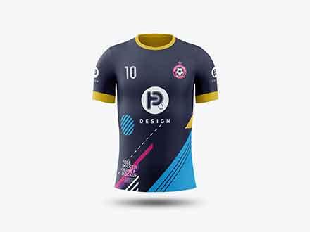 Download Free Soccer Jersey Mockup (PSD)