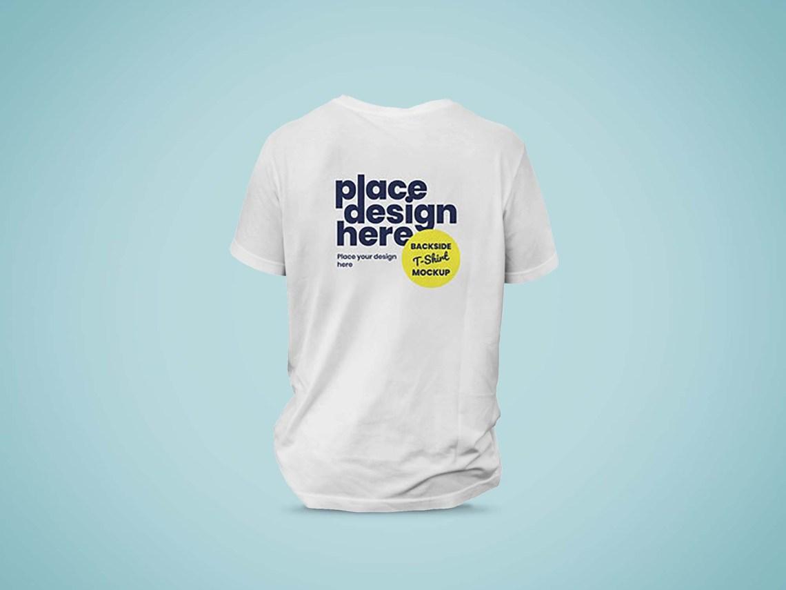 Download Free Backside T-Shirt Mockup (PSD)