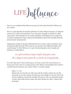 Life Influence
