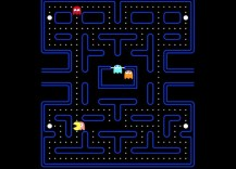 Pacman game, bigger than Google's Packman doodle