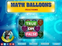 Math Balloons Fraction