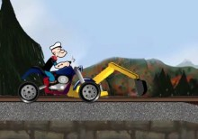 Popeye Rides Bike