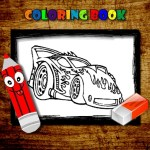 BTS Cars Coloring Book