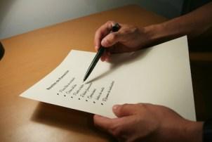 getting organized - making a list