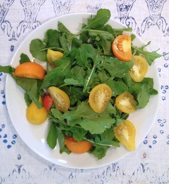 Home-grown salad