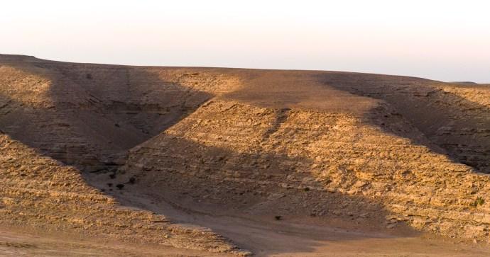 Desert hill magic hour