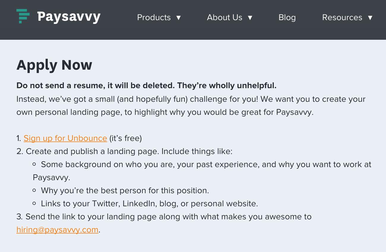 PaySavvy-Apply-Unbounce