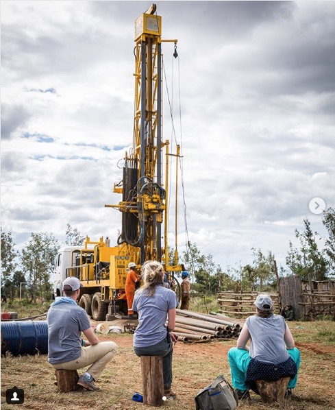 Well Aware drilling wells in Kenya