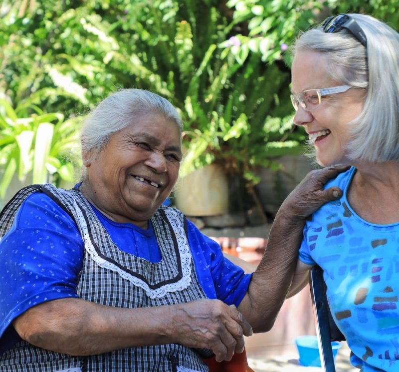 Charlotte Bell and Doña Maria, her Otomi teacher