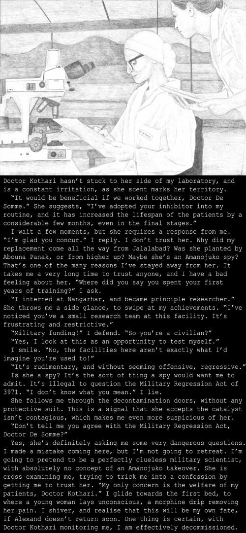 Katherine's backstory, set in Saskatoon military base, India (3991)