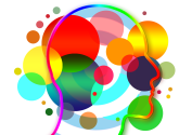 colorful circles in a head