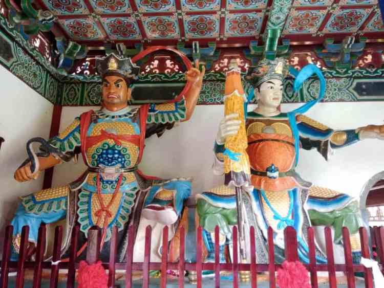 Chinese Monastery Bodhidharma Lumbini Statue Virupaksa Guang Mu Tian Wang Vaisravana Duo Wen Tian Wang Tian Wang Dian Four Heavenly Kings