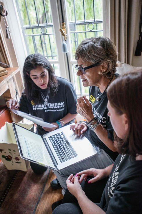 L-R: Prathna Singh, Smaragda Louw, Kathy Raffray
