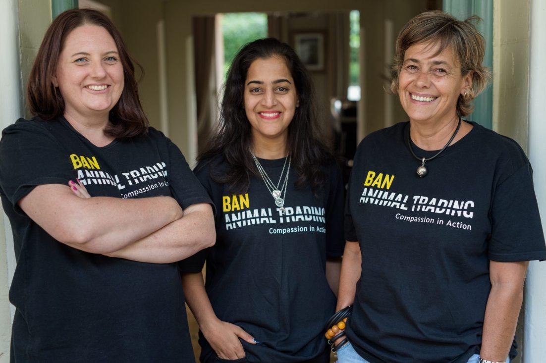 L-R: Kathy Raffray, Prathna Singh, Smaragda Louw