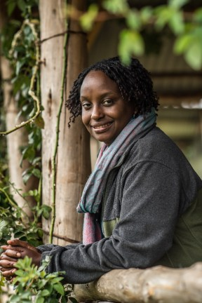 Dr. Gladys at CTPH's eco-lodge in Bwindi Impenetrable Forest.