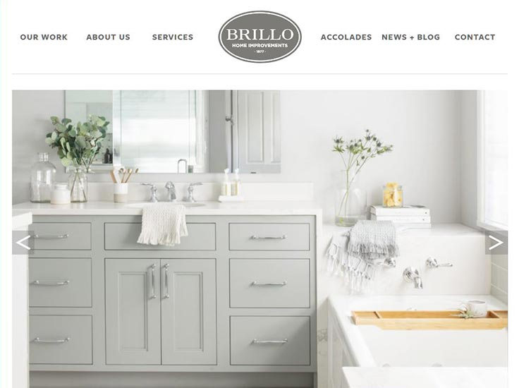 Screenshot of Brillo Home Improvements website