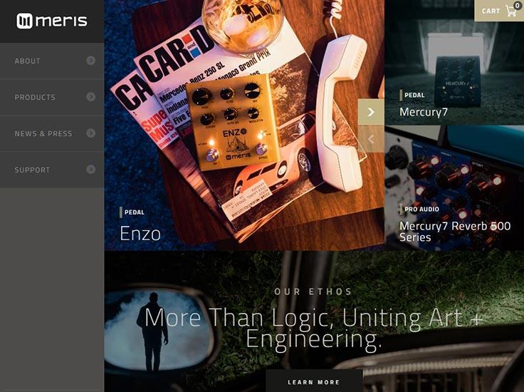 Screenshot of Meris website