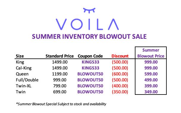 Voila mattress prices