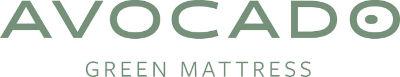 Avocado green mattress logo