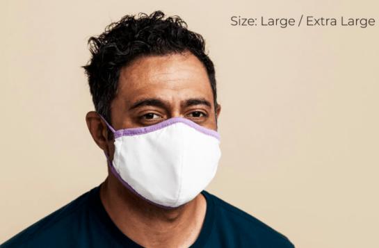 Purple face mask extra large