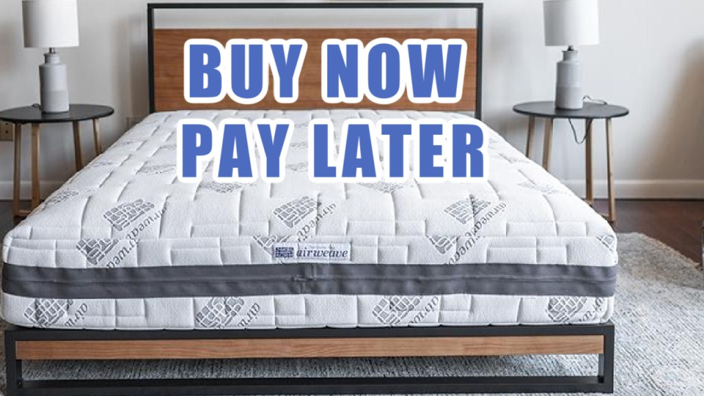 buy now pay later airweave mattress