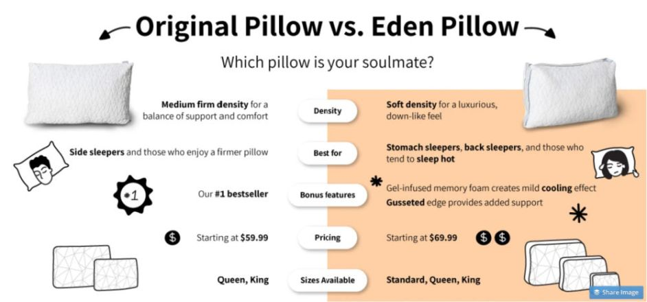 Coop Eden Vs Original Pillow