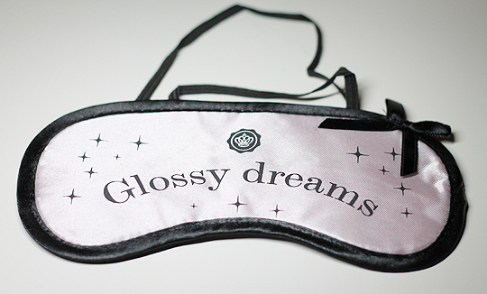 Glossybox Goodie: Glossy Dreams Schlafmaske