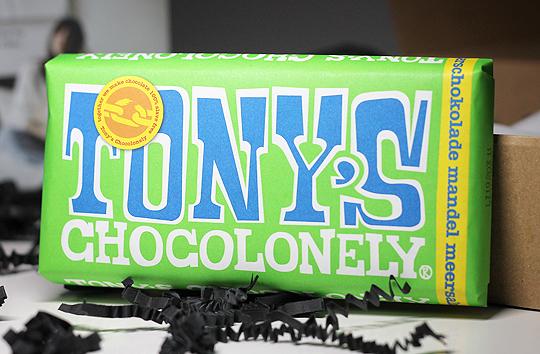 (Tony's Chocolonely) Zartbitterschokolade Mandel Meersalz