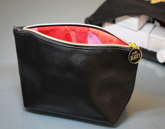 [Cult Beauty] Black Faux Leather Make Up Bag