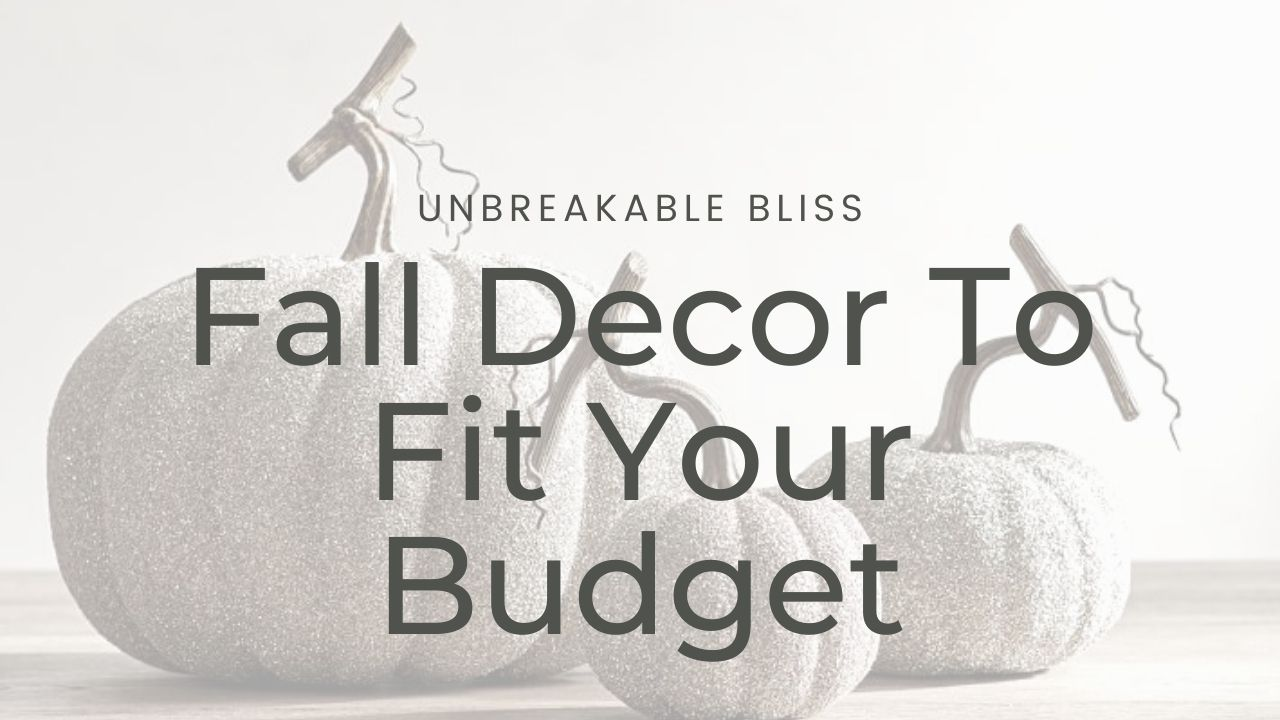Affordable Fall Decor To Fit Your Budget