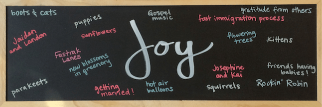 My Joy List