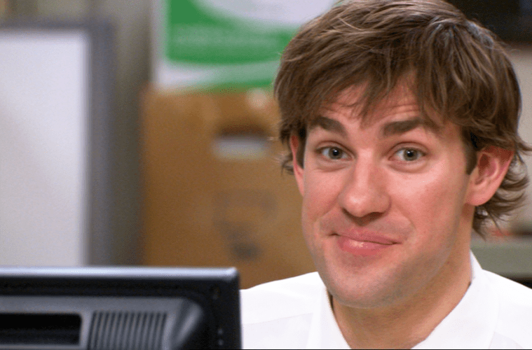 Image result for jim halpert prank