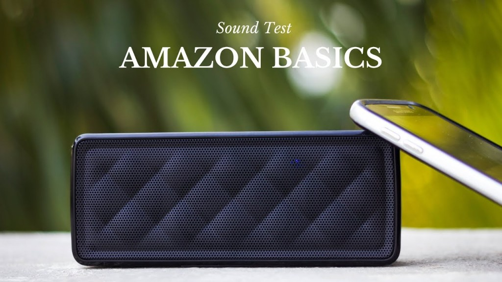 Amazon Basics Bluetooth Speakers UnBumf