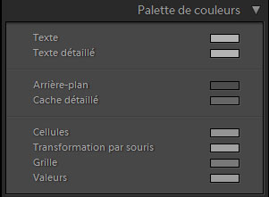Lightroom palette de couleurs
