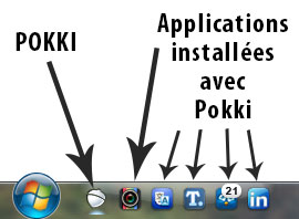 Pokki dans la barre Windows
