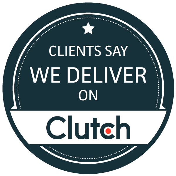 Clients say we deliver on Clutch logo