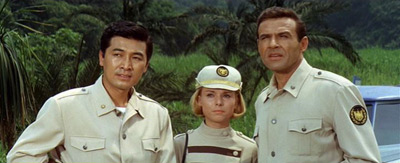 Our main heroes- Jiro, Susan, and the mighty Carl Nelson! (TOHO Co)