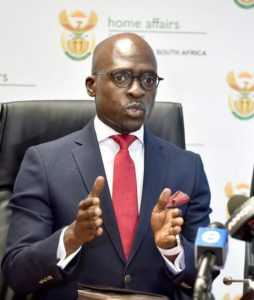 13/12/2016. Minister of Home Affairs Malusi Gigaba briefs media about the recent illegal immigrants issue. Picture: Thobile Mathonsi