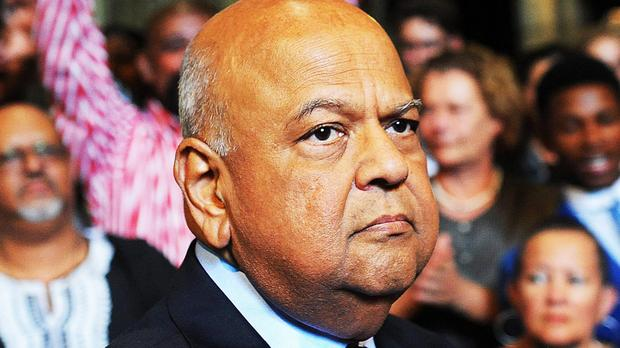Cape Town - 170406 - Hundreds of people flooded the St. George's Cathedral to attend a memorial service for Ahmed Kathrada. Recently axed finance minister, Pravin Gordhan (pictured), was the keynote speaker. Picture: David Ritchie