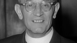 """Pastor Martin Niemöller, German anti-Nazi theologian and Lutheran pastor. He is best known for a widely-paraphrased statement which he made in different versions, one of which is """"First they came for the Socialists, and I did not speak out-because I was not a Socialist….."""