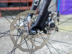 Front disc brakes and Lynskey carbon fork