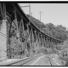 "The Safe Harbor Trestle built in 1905 for the A&S Branch, also known as the ""Low-Grade Branch,"" of the Pennsylvania Railroad."