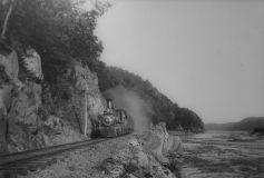Steam locomotive on the A&S. David H. Mellinger Collection, courtesy of Scott E. Kriner, Conestoga, PA