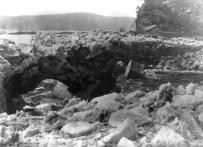 Weeks after ice flooding in 1904, the mouth of the Conestoga River at Safe Harbor was still a mountain of ice. The river is visible through the ice arch in the lower left.