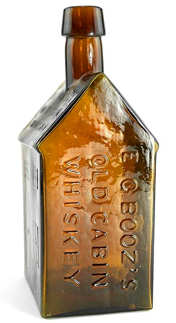 Edmund G. Booz Old Cabin Whiskey Bottle