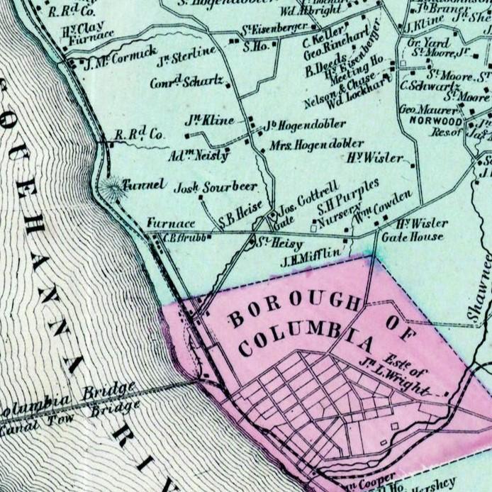 1864 West Hempfield Township map.
